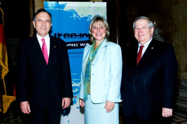 German Consul General Friedrich Lohr, Senator Karen Spilka and Senator Richard Moore