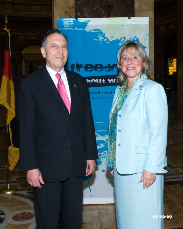 German Consul General Friedrich Lohr and Senator Karen Spilka