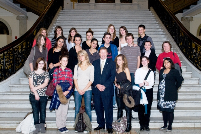 French Students from Natick High School Visit State House