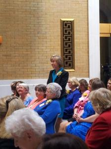 Susan Nicholl, nominated by Senator Spilka, being recognized as an Unsung Heroine of 2013