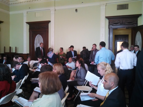 A packed room for the Tech Hub Caucus's Big Data event.