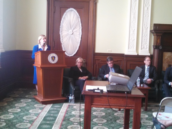 Senator Spilka kicks off the Tech Hub Caucus event.