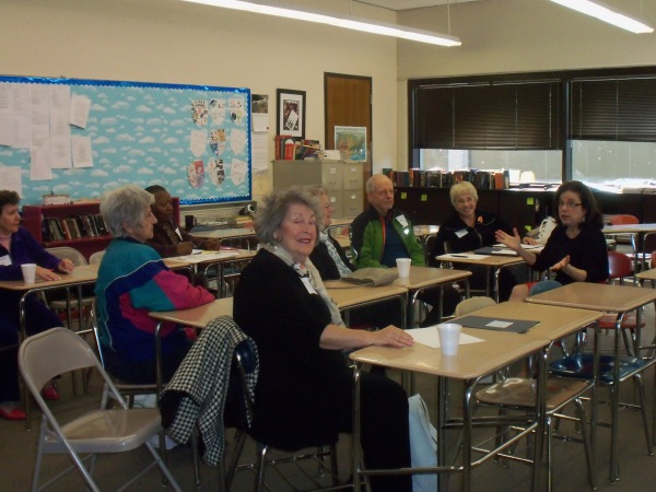 Attendees at the 2013 Senior Fair discuss important health and wellness issues and concerns.